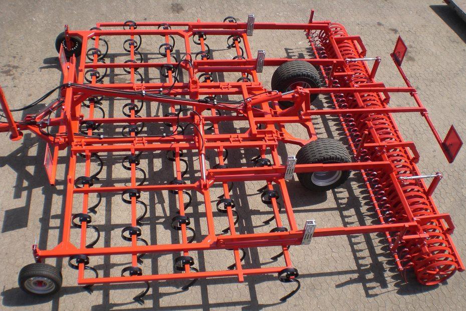 STOPPEL-SPEZI 6 F - Großfederzinken 5-balkig, Striegeleinheit, Dachringwalze, Tasträder