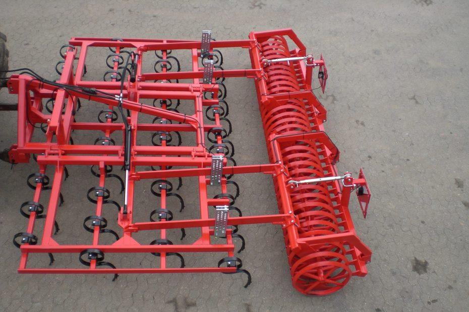 STOPPEL-SPEZI 4 H - Großfederzinkenreihe 4-balkig, Dachringwalze