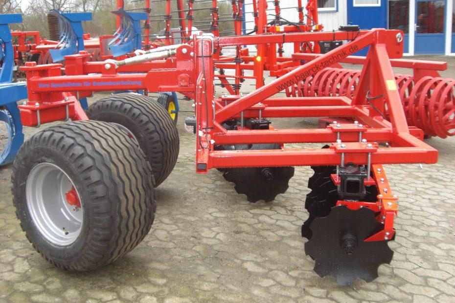 Frontgerät mit lenkbaren Rädern und Hohlscheibeneinheit